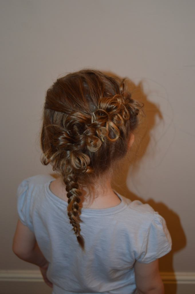Shayla chose the diagonal bow braid - I did not have the correct equipment