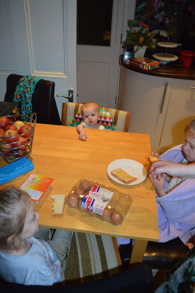 my little toast munchers, look how small Eden looks