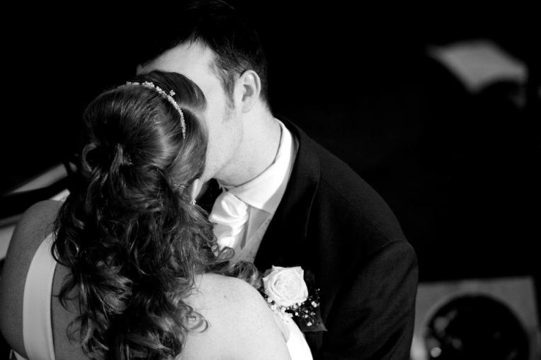 our first kiss as man and wife