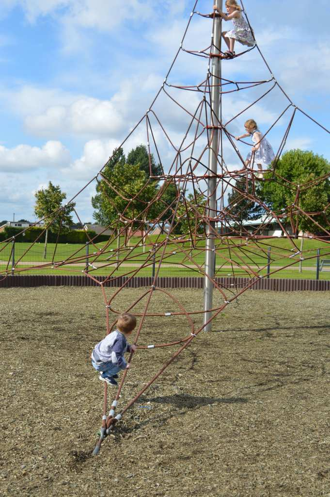 can you spot our 3 eldest on this climbing frame?