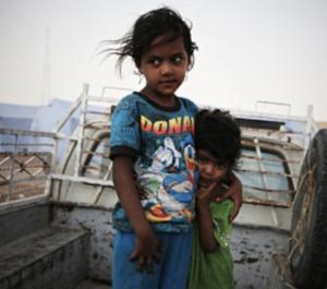 displaced children at risk