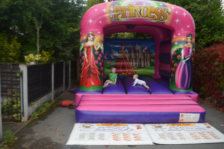 bouncy castle, princess party, dontcallmestepmummy