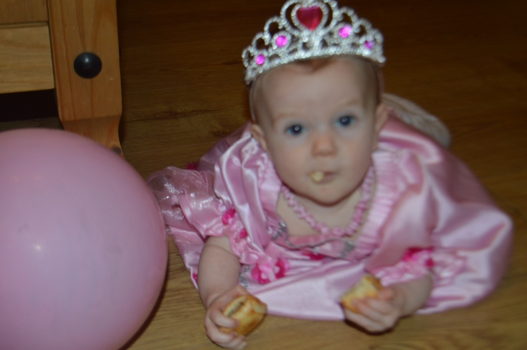 baby led weaning, princess party, baby princess