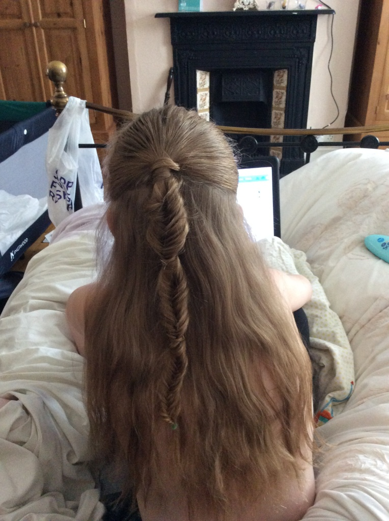 bubbled fishtail, cute girls hairstyles