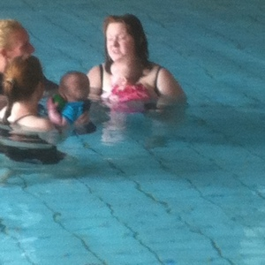 swimming with babies