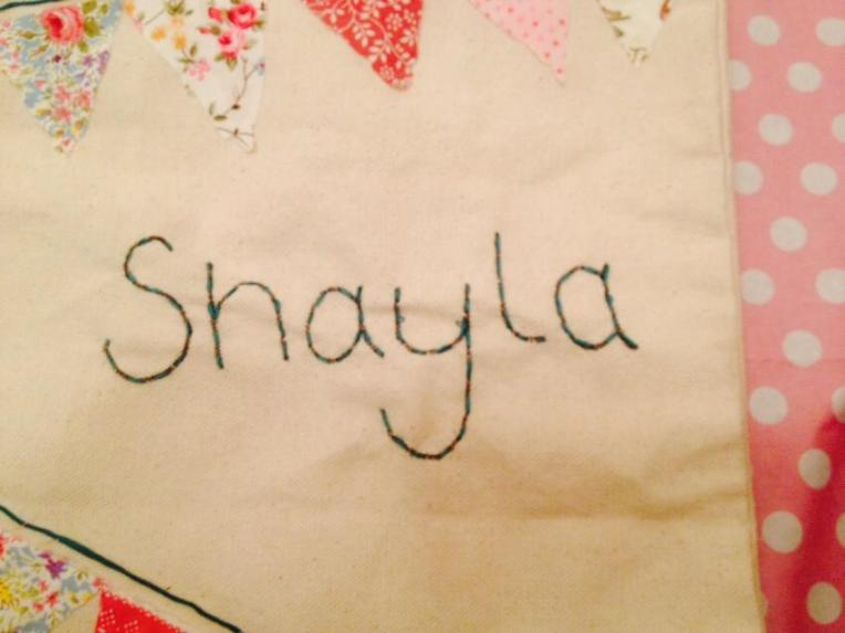 I sewed this for Shayla