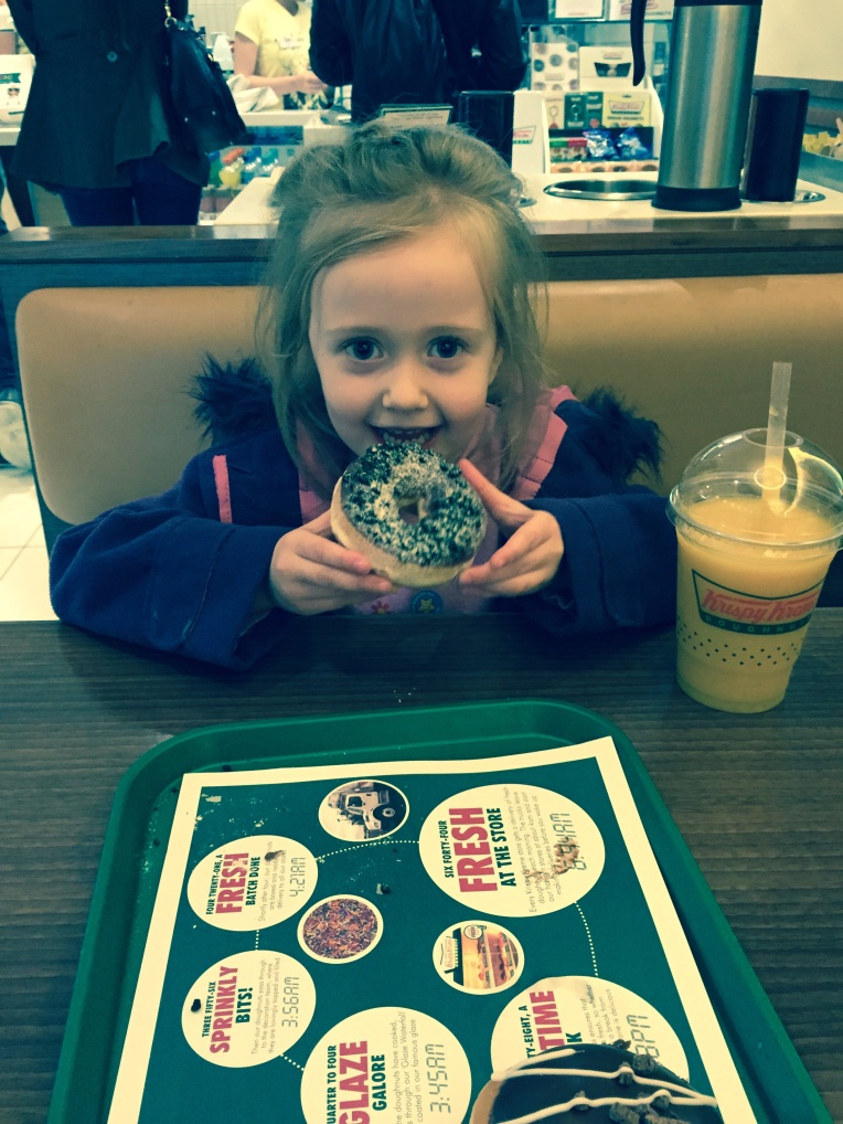 dontcallmestepmummy, Krispy Kreme, blended family, step mum, just the 2 of us, justus2, mummy and daughter time