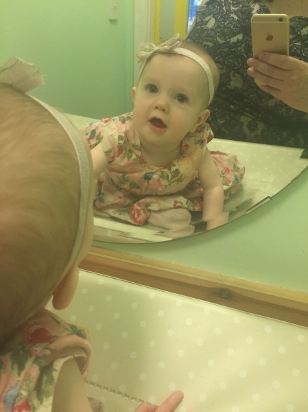 11 months old, baby milestone, dontcallmestepmummy, blended family, step mum, mirror selfie