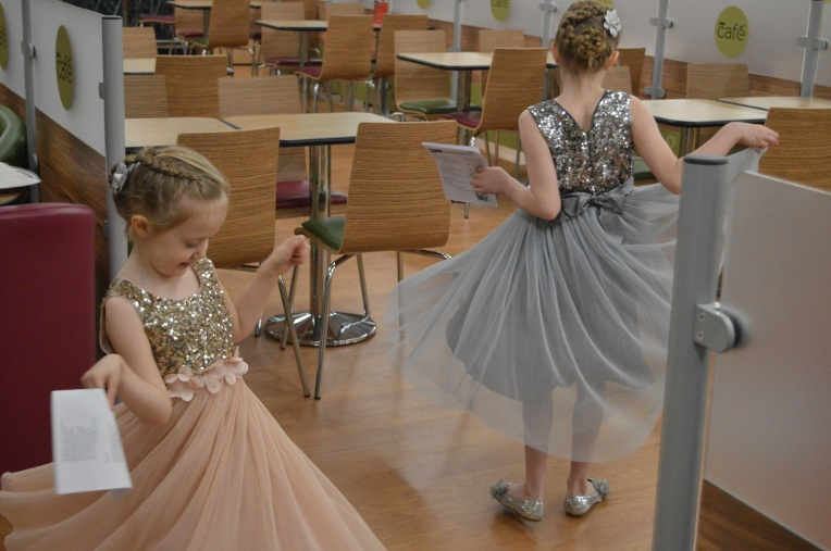 sparkly dresses, NEXT partywear, carolling, twirling, dontcallmestepmummy, blended family