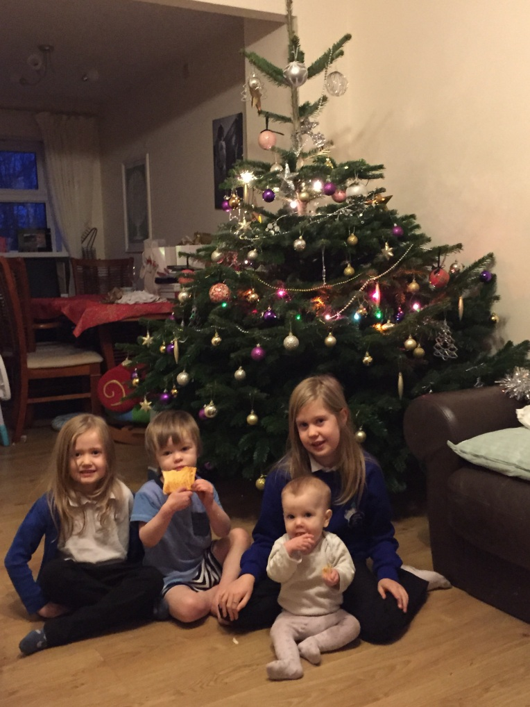 siblings, December, Christmas Tree, Christmas, dontcallmestepmummy, blended family,