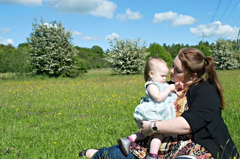 living arrows wk 23, dont call me step mummy, mother and daughter, summer fields, red head, princess toddler