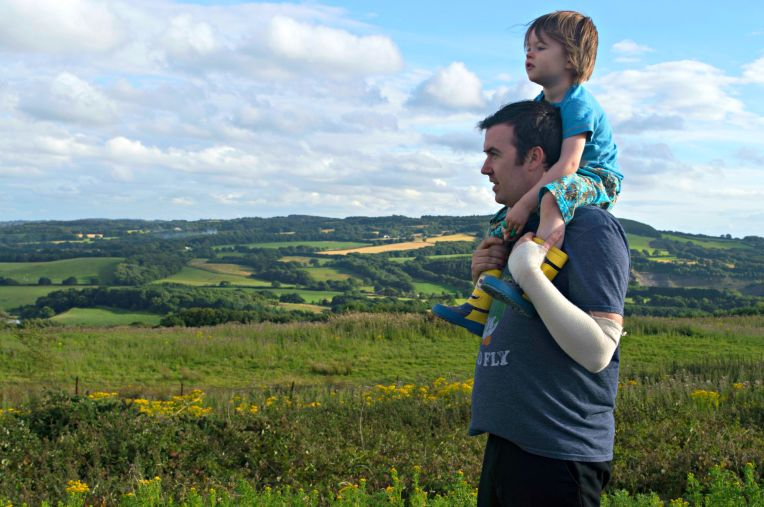 living arrows, shutterflies, don't call me step mummy, blended family, on Daddy's shoulders, beautiful scenery, Lancashire, stunning views, Father and Son, mummy blogger, lifestyle blogger
