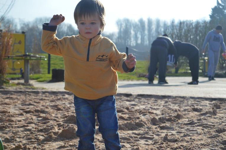 living arrows, play park, sand, toddler, winter sun