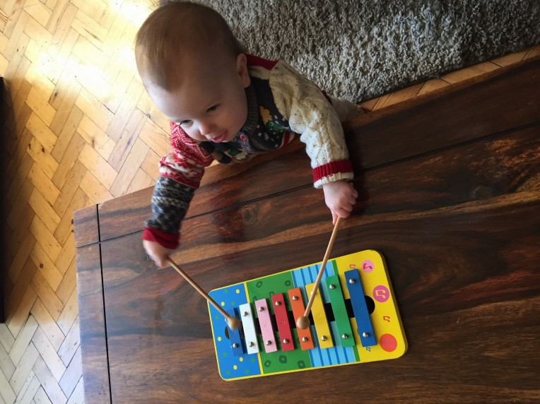 happy fifteen months Eden, the baby diaries, musical baby, baby milestones, letters to my baby
