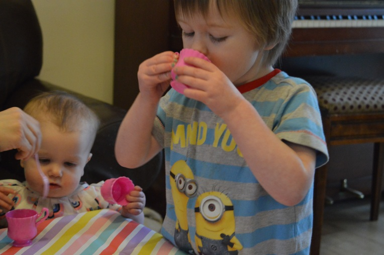 the ordinary moments, dontcallmestepmummy, mummy blog, blended family, tea party, imaginary play
