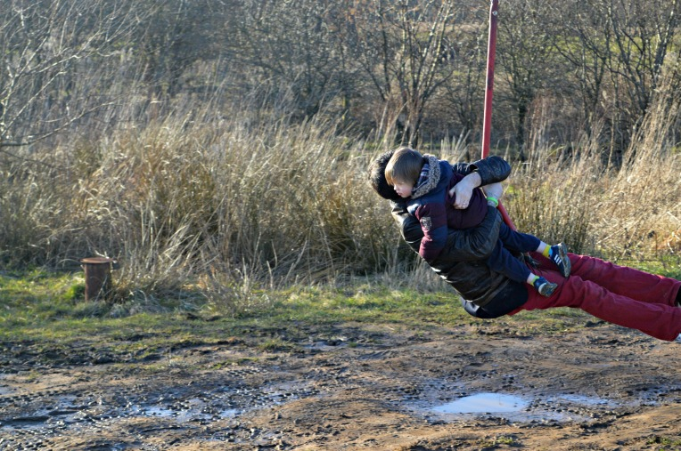 country kids, Our Great 2015 Outdoors Bucketlist, dontcallmestepmummy, blended family, mummy blog, nature reserve, winter days, Brockholes, father and son zipwire