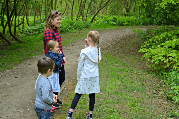 favourite family walks, dontcallmestepmummy, blended family, mummy blog, the ordinary moments, woodland walks, siblings, holding hands, aupair life