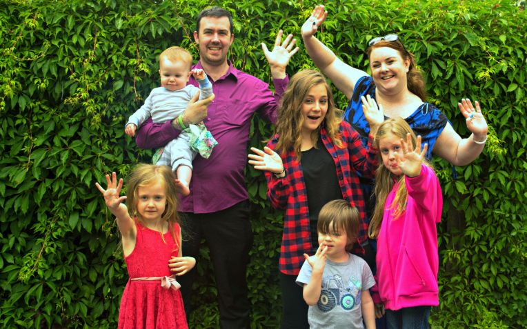 happy family, Don't Call Me Step Mummy, au pair life, family photo, family portrait project, big family, blended family