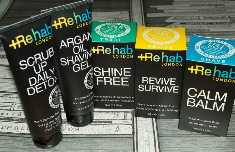 Rehab London, male skincare, beauty blogger, male bloggers, video review, male skincare routine, male skincare for sensitive skin, anti-fatigue, stress relief, exfoliators for men